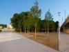 Das ULA-Park Dreieck in der Dämmerung