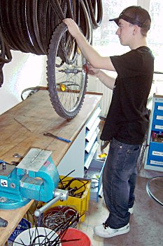 Reparaturarbeiten in der FAHRbar