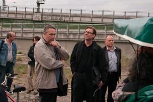 Stephan Lange, Stadtplanungsamt; Heinz Tibbe, Gruppe Planwerk; Herr Wagner,Vivico (vlnr)