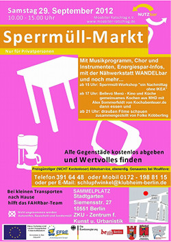 Flyer Sperrmüllmarkt, Bild anclicken für Download