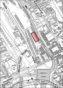 Geltungsbereich Bebauungsplanentwurf 1-93VE