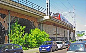 In der heutigen Alice-Behrendt-Straße sollte eine Rampe die Stadtbahn mit den Werkstätten des Lehrter Bahnhofs verbinden
