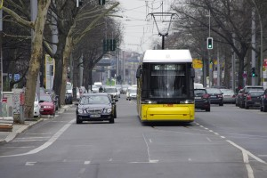 Straßenbahn in Invalidenstraße