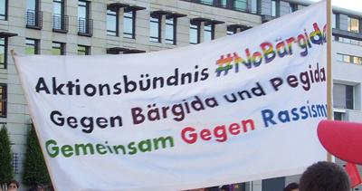 Protest gegen Bärgida