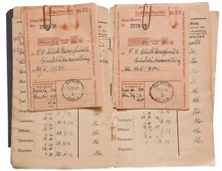 Zwischen 1943 und 1945 sind keine Einträge im Mietzahlungsbüchlein